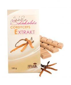Weiße Schokolade mit Cordyceps Extrakt 100g