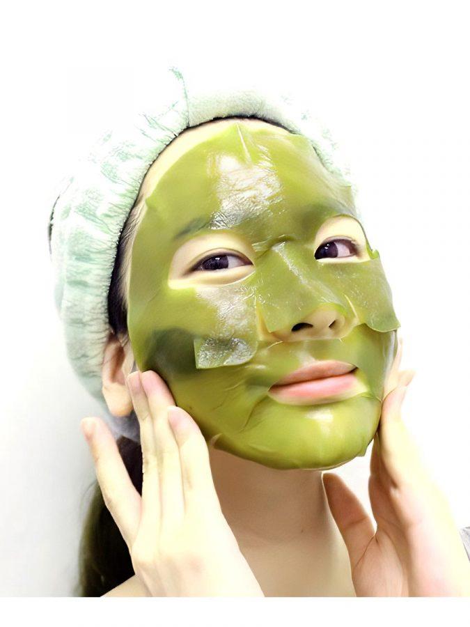 Whamisa Organic Sea Kelp Facial Sheet Mask Algenmaske g