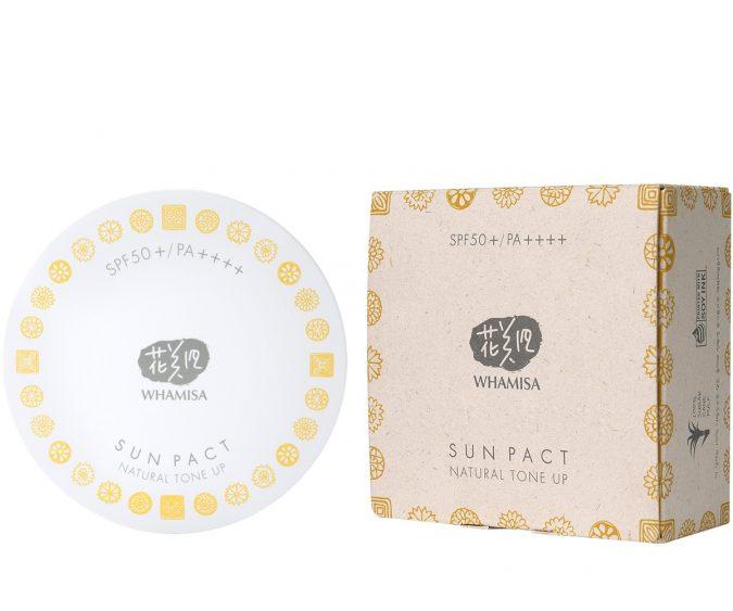 Whamisa Sun Pact Natural Tone Up Sonnenschutzpuder LSF 50 16g Produktbild 2